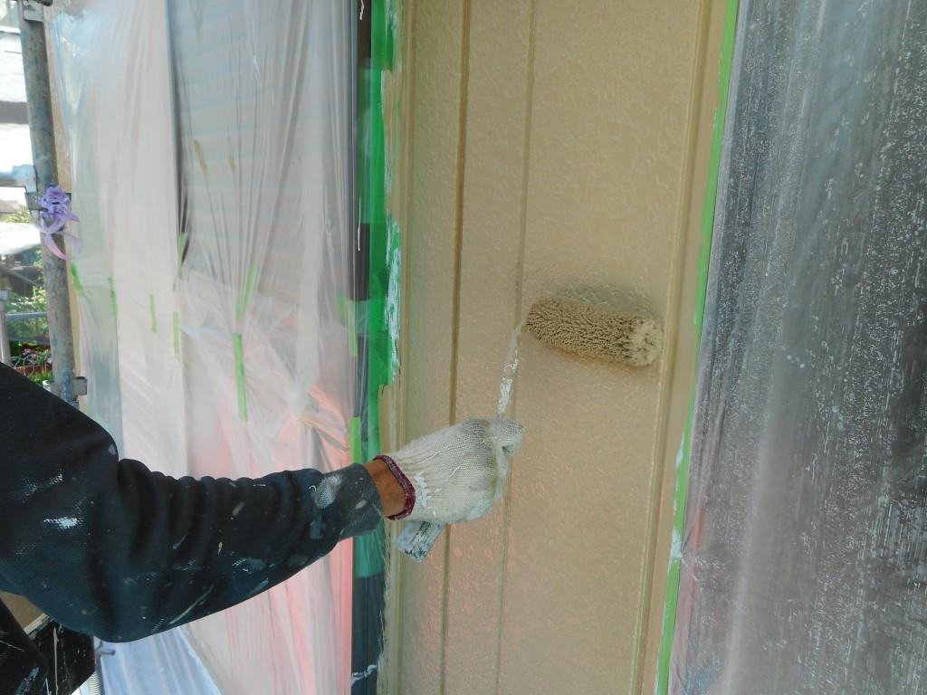 セキスイさんのお家をツートンに塗り替えを折板屋根塗装 三重県 四日市市
