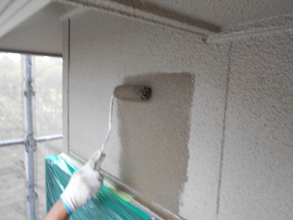 無機UV塗料でツートンカラーに塗り替え 愛知県みよし市