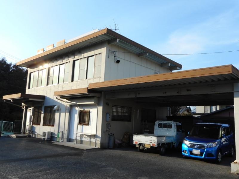 折板屋根をサーモアイsiで遮熱塗装、鉄分塗装、事務所の外壁工事 瀬戸市