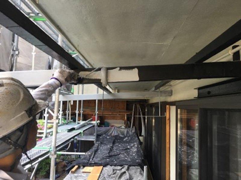 2色塗り分けでシックな仕上がりの外壁と屋根・付帯部塗装 名古屋市千種区