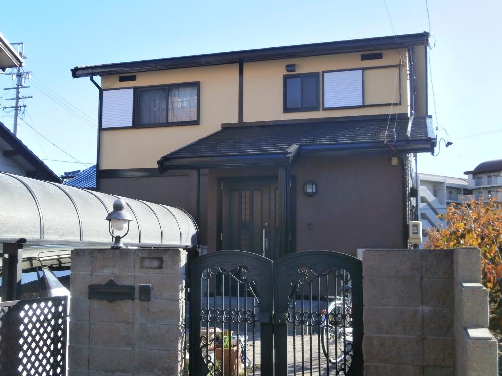 セキスイさんの住宅を下地密着強化して外壁と屋根塗装 名古屋市北区