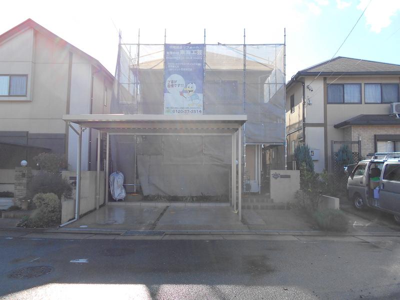 ジョリパットフレッシュインフィニティとフッ素塗料で艶消し塗り替え 名古屋市緑区
