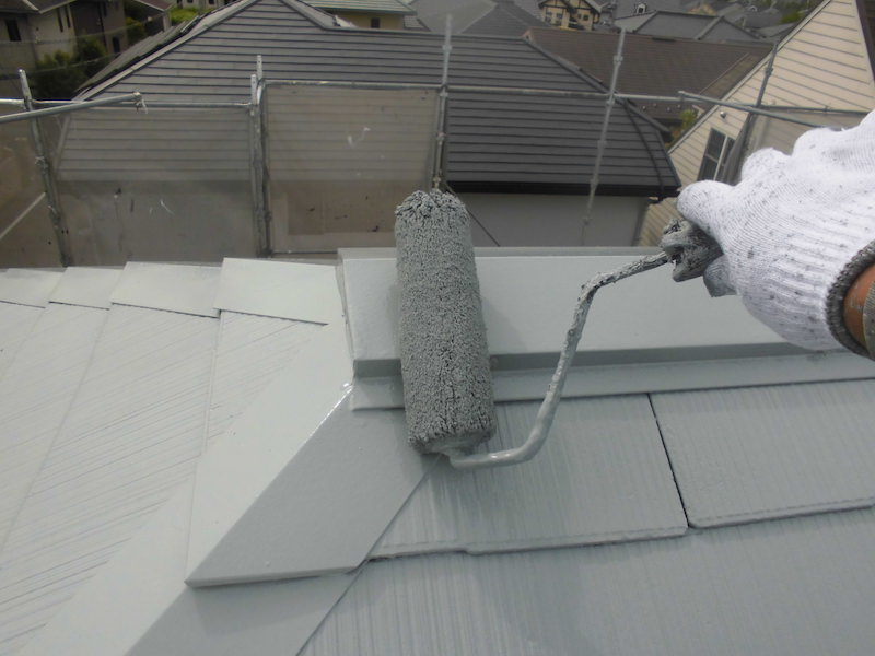 トヨタホームさんの戸建て外壁塗り替えと屋根塗装 日進市