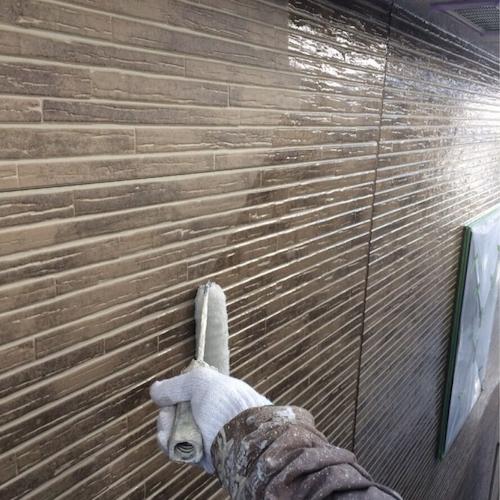 デザイン性の高い外壁にクリヤー(クリア)塗装仕上げ 名古屋市守山区