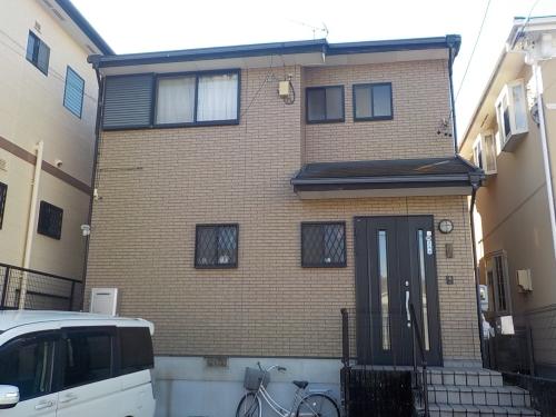 外壁を黄色系(イエロー)に塗り替え明るく変身! 名古屋市緑区