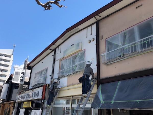 テナント物件(店舗)の外壁・屋根の改修 名古屋市北区