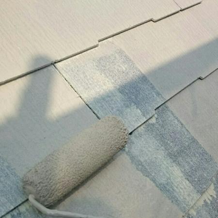 外壁の色を縦に色分けした組み合わせがおしゃれな塗り替え 名古屋市熱田区