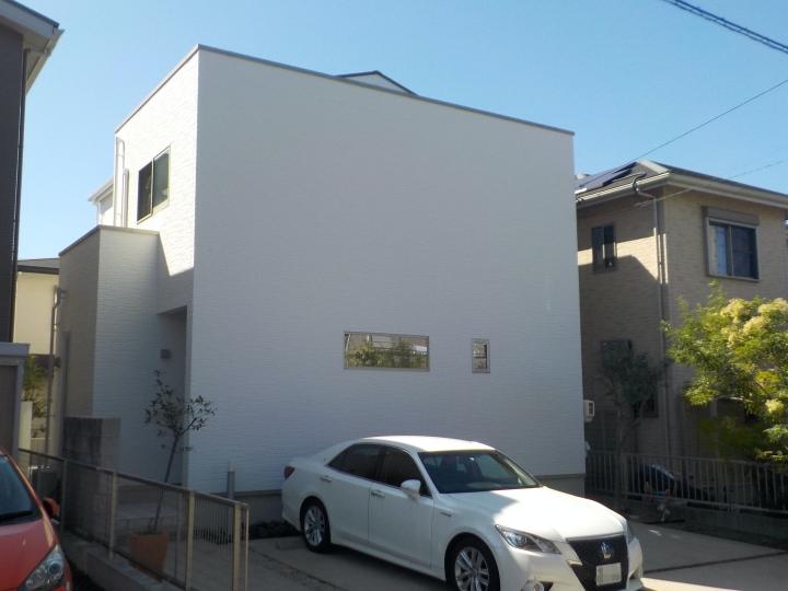 ミサワホームさんの建物を最上級の遮熱シリコン塗料シリコンREVO1000で外壁塗装 日進市