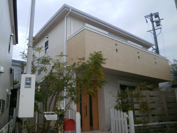 単色塗りではない多彩模様塗りでおしゃれな外壁塗り替え 名古屋市千種区