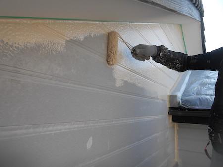 ベージュのツートンカラーに外壁の色を一新した塗り替え 名古屋市守山区