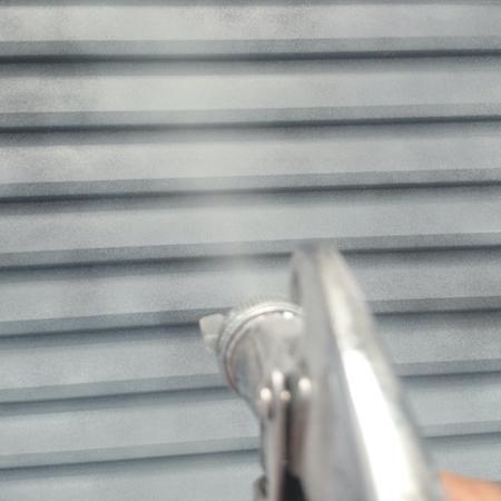 目地シーリング(コーキング)の黒ずみ対策をして、外壁をツートンカラー仕上げに 日進市