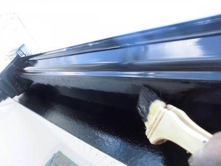 外壁のクリア(透明)塗装、屋根塗装をセミフロンスーパーシリーズで美しさを維持 名古屋市緑区