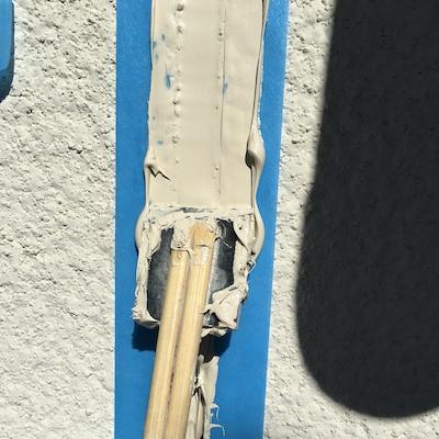 ジョリパットの吹き付け外壁を風合いはそのままに汚れにくいプランで塗り替え 日進市