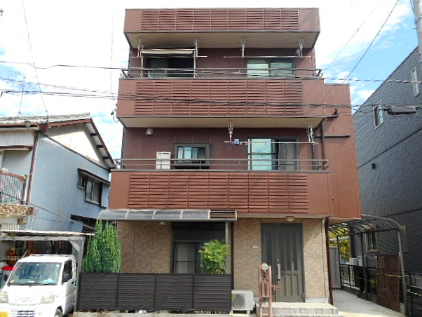 3階建てALC外壁の塗り替えは、屋根や目地の防水を重視したメンテナンス 名古屋市中村区