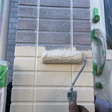 サイディングのタイル調模様を再現した個性がひかるお洒落な外壁塗装 名古屋市緑区