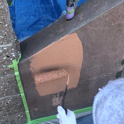 タイル調に見えるデザイン塗装でイメージはそのまま新築のような輝き 名古屋市緑区