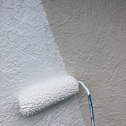 ネイビー・ホワイトの縦ラインがモダンかっこいい! 外壁塗装のツートンカラー 日進市