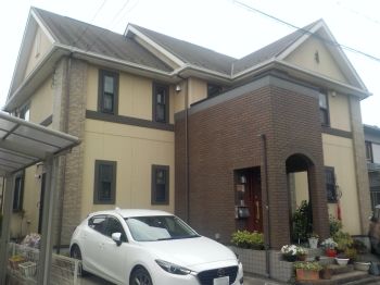 おしゃれな外観イメージはそのままに!外壁と屋根を明るい色で塗り替え 知多市