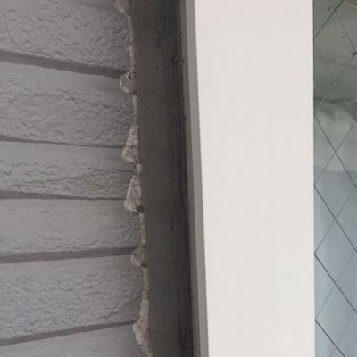 屋根の谷板金塗装,コーキング補修,外壁塗装で防水性も高めて施工 名古屋市緑区