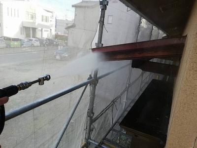 屋根瓦の漆喰補修、和風建物の風合いを大切にツヤを抑えた外壁塗装 名古屋市緑区