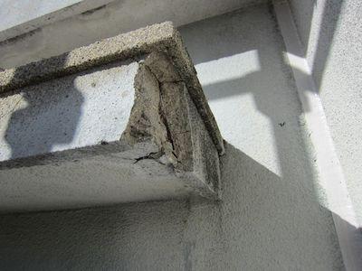 訪問業者と契約で心配になり相談に。爆裂補修、防水工事、外壁塗装 名古屋市天白区
