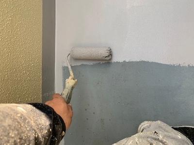 塗り壁のメンテナンス (ジョリパットとリシン仕上げ)専用塗料で塗装 名古屋市中川区
