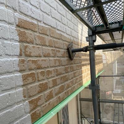 外壁は現状と同じ色合いに近づけて塗り替え 名古屋市緑区