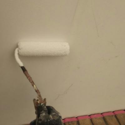 ベランダ笠木からの雨漏り防水工事も同時施工 風合いそのままリシン外壁塗装 半田市