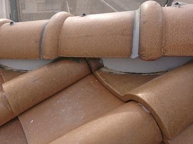 瓦屋根の漆喰補修、面戸工事の屋根リフォームと外壁塗装 名古屋市緑区