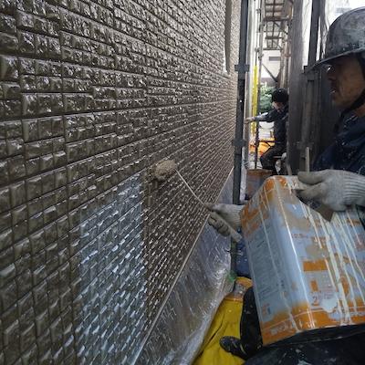 セキスイ住宅の外壁とシャッターゲート外構塗装、屋上防水 名古屋市千種区