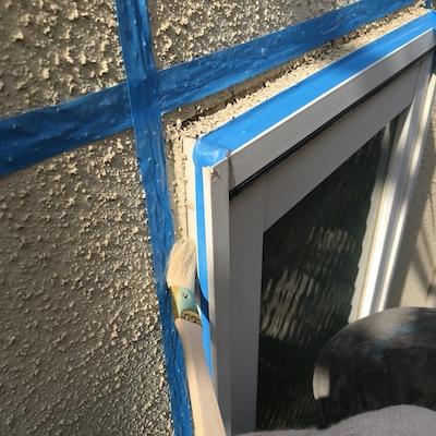 屋根瓦ビス浮き補修、コーキング防水を丁寧に外壁塗り替え 名古屋市天白区