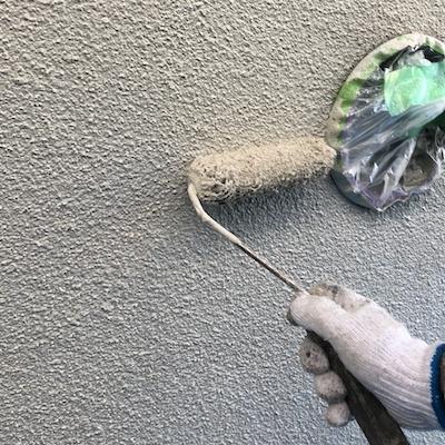 外壁のデザイン(模様)塗装、ベランダ防水工事、重厚感ある美しい仕上がり 名古屋市天白区