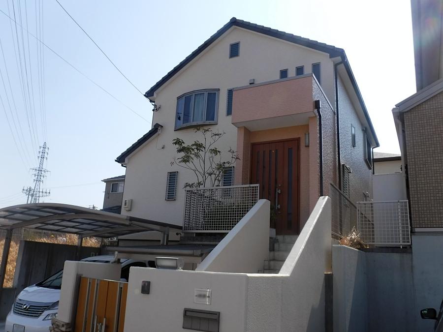 外壁塗装に日本ペイントのフッ素塗料!明るくおしゃれな色に 名古屋市緑区