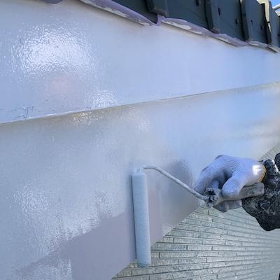 外壁の白黒がモダンかっこいい塗り替え! 擁壁は水抜きしてジョリパットインフィニティ塗装 名古屋市緑区
