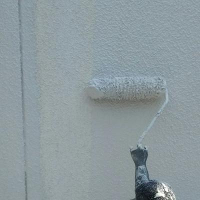 ガルバリウムとリシン外壁を塗り替えて、シンプルかっこいい仕上がりに 名古屋市守山区