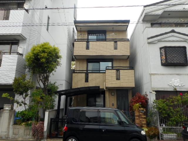 3階建て旭化成住宅の外壁を活かしたクリア(透明)塗装 名古屋市千種区