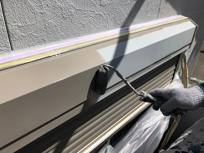 明るく清潔感あるシルバーホワイトの外壁塗装 名古屋市守山区