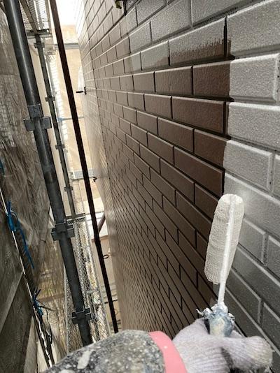 3階建て!オールブラック系で統一したクールモダン屋根外壁塗装 名古屋市中川区