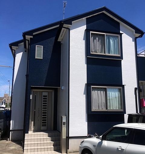 屋根板金ビス打ち補修、錆止め下塗りを丁寧に屋根外壁塗装 名古屋市北区