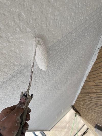 タイル調のサイディングを上品なベージュに単色塗り 名古屋市瑞穂区