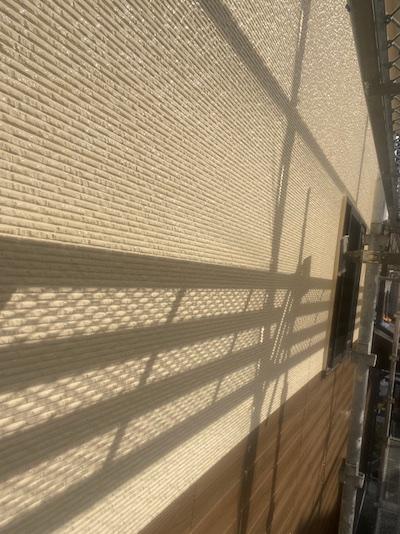 少し雰囲気を変えイエローベースで明るく外壁塗り替え 安城市