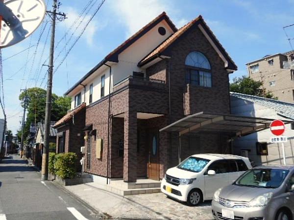 外壁タイル汚れをバイオ洗浄でカビ・コケ再発防止から塗装 名古屋市昭和区