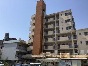 名古屋市天白区まるや本店様の煙突塗装工事着工しました!!