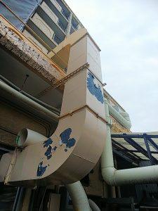 名古屋市天白区 まるや本店様のダクト塗装工事始まりました!!