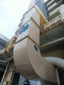 名古屋市天白区 まるや本店様 ダクト塗装工事 昨日完工しました!!