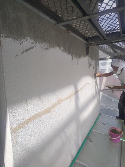 長尺シート工事、ハイツ・アパート外壁補修塗装で明るい印象に 名古屋市昭和区