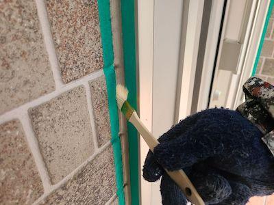 コーキング(シーリング)も丁寧に補修し外壁塗装、FRP防水工事 名古屋市緑区